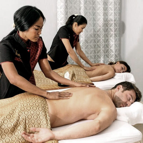 Balinese massage given to a couple